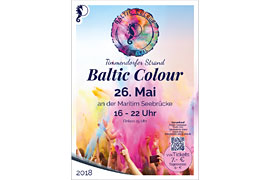 Plakat Baltic Colour Festival - Timmendorfer Strand