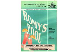 """Plakat """"Romys Pool"""" - Niederdeutsche Bühne Lübeck"""