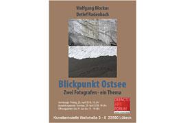 """Plakat Ausstellung """"Blickpunkt Ostsee"""" in der Kunsttankstelle Lübeck"""