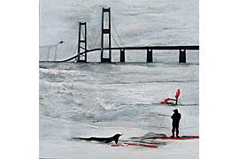Renate Straatmann - Brücken verbinden- Acryl-Mischtechnik auf Leinwand 70x70