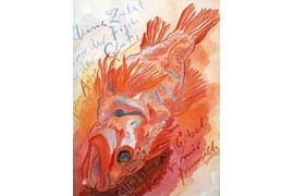 Fisch-Motiv, Fundsachen für Nichtleser © Günter und Ute Grass Stiftung _Steidl Verlag