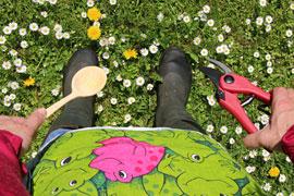 In Gummistiefeln zum Essen © Naturpark-Haus Plön