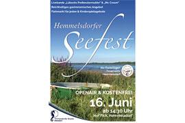Plakat Hemmelsdorfer Seefest 2018