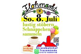 Flohmarkt Juli 2018 am Strandbahnhof Travemünde