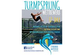 Plakat Turmsprung-Wettbewerb 2018 im Strandbad Malente