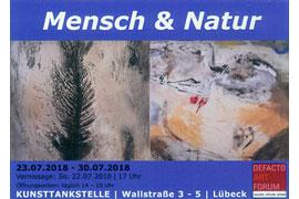 Plakat Iris Frahm und Silvia Conrad, Mensch und Natur © Kunsttankstelle Lübeck