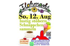 Flohmarkt August 2018 am Strandbahnhof Travemünde