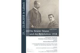 Plakat - Heinrich und Thomas Mann um 1900 in München © ETH-Bibliothek Zürich, Thomas-Mann-Archiv, Fotograf: Atelier Elvira/TMA_0017