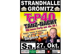 Plakat TOP 40 TANZ-NACHT - Oktober 2018 © Stephan Nanz