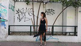 Projekt Athen - Mythos und Antike_Ariadne Dalatsi präsentiert 'Singing graffitis' © MHL