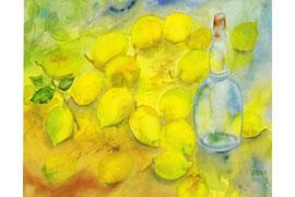 Flasche mit Zitronen, 1997 © Günter und Ute Grass Stiftung_Steidl Verlag