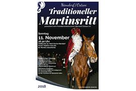 Plakat Martinsritt Niendorf/Ostsee