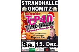 Plakat TOP 40 TANZ-NACHT - Dezember 2018 © Stephan Nanz