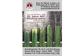 Plakat 25 Jahre Art Photographie - Tischbein-Gartenhaus Eutin
