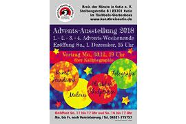 Plakat Kreis der Künste in Eutin - Adventsausstellung © Gudrun Köhler