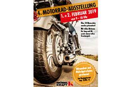 Plakat 4. Motorrad-Ausstellung Bad Segeberg © MÖBEL KRAFT