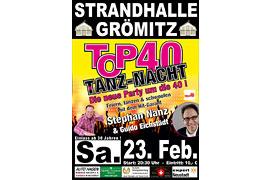 Plakat TOP 40 TANZ-NACHT - Februar 2019 © Stephan Nanz