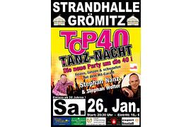 Plakat TOP 40 TANZ-NACHT - Januar 2019 © Stephan Nanz