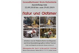 Plakat Ausstellung Natur und Oldtimer