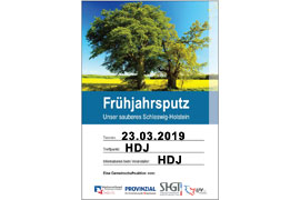 Plakat - Unser sauberes Schleswig-Holstein 2019