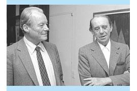 Willy Brandt und Heinrich Böll im Gespräch. Jupp Darchinger / Archiv der sozialen Demokratie