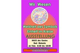 """Plakat Ausstellung Harald Nöding - Kreisbilder """"WIR WESEN - WEISHEIT DES SYMBOLS ..."""""""