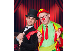 Clown Kai und Zauberer TricNic - Hokuspokus Trallala