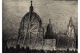 A. Paul Weber - Britische Bilder - Die Kathedrale
