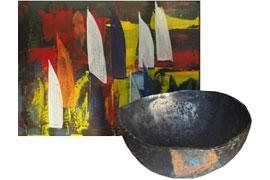 """Ausstellung """"Kunst aus Erde und Farbe"""" - Thomsen-Kate Malente"""