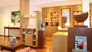 ATLANTIC Grand Hotel Travemünde Empfang Spa Bereich © ATLANTIC Hotels Management GmbH