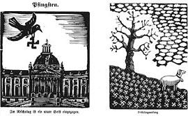 Hans Gerner - in Holz geschnittene bissige Karikaturen