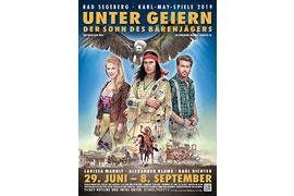 """Plakat """"Unter Geiern"""" Karl-May-Spiele 2019 Bad Segeberg"""