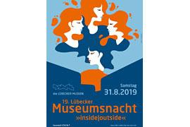 Plakat Museumsnacht Lübeck 2019