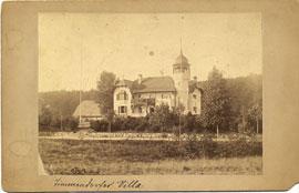 Villa Gropius mit Gärtnerhaus links um 1900 in Timmendorfer Strand