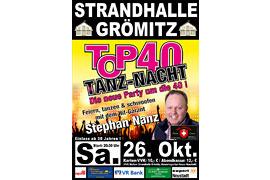 Plakat TOP 40 TANZ-NACHT - Oktober 2019 © Stephan Nanz