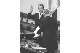 Vereidigung Willy Brandt © Bundesbildstelle