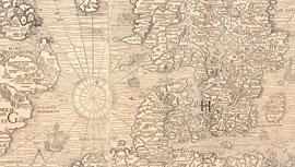 Carta-Marina Olaus-Magnus 1539 © Uppsala-Universitätsbibliothek Database-Alvin cut