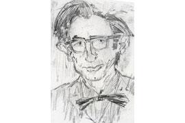 Peter Rühmkorf - Kohlezeichnung 1960 © Günter und Ute Grass Stiftung/Steidl Verlag