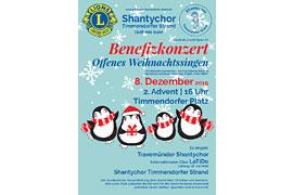 Plakat Benefizkonzert Offenes Weihnachtssingen