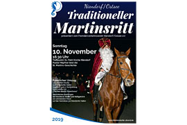Plakat Martinsritt Niendorf/Ostsee 2019