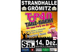 Plakat TOP 40 TANZ-NACHT - Dezember 2019 © Stephan Nanz