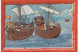 Seegefechts in der Ägäis © Burgerbibliothek, Bern