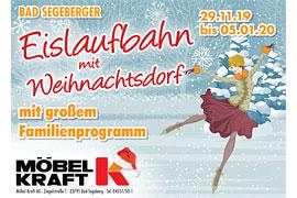 Plakat Eislaufbahn mit Weihnachtsdorf © MÖBEL KRAFT