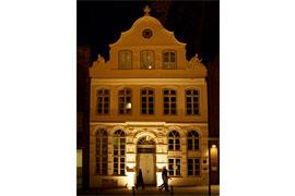Buddenbrookhaus bei Nacht