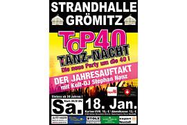 Plakat TOP 40 TANZ-NACHT - Januar 2020 © Stephan Nanz