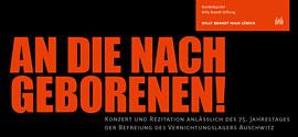 An die Nachgeborenen © Willy-Brandt-Haus Lübeck