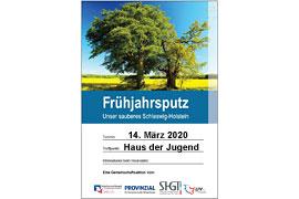 """Plakat """"Unser sauberes Schleswig-Holstein"""" Travemünde 2020"""