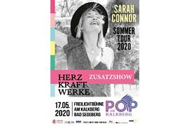 Plakat Pop am Kalkberg 2020 Zusatzkonzert – Sarah Connor