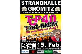 Plakat TOP 40 TANZ-NACHT - Februar 2020 © Stephan Nanz