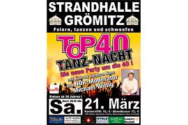 Plakat TOP 40 TANZ-NACHT - März 2020 © Stephan Nanz